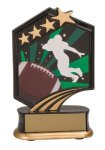 Football Resin Trophy Graphic Star Resin Trophies
