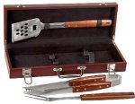 Rosewood Finish BBQ Set Kitchen Gifts