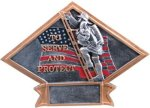 Firefighter Diamond Plate Resin Patriotic and Eagle Awards