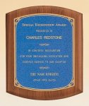 American Walnut Plaque with Linen Textured Plate Patriotic and Eagle Awards