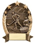 5 Star Oval Hockey Trophies | Resin